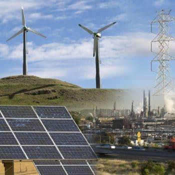 Traducción de petróleo y gas, energía eléctrica, solar, nuclear y eólica.